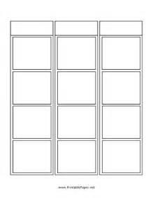 comic paper template printable blank vertical comic
