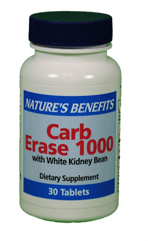 supplement kidney carb erase 1000 with white kidney bean supplement 30