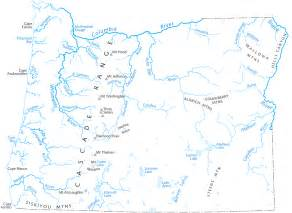 oregon geography map oregon river map