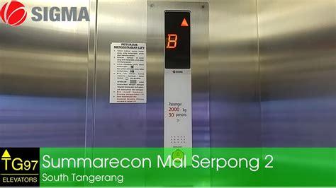 Elevator Sigma Sigma Traction Elevator Summarecon Mal Serpong 2 South Tangerang
