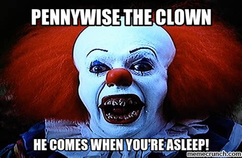 Scary Goodnight Meme - pennywise the clown scare