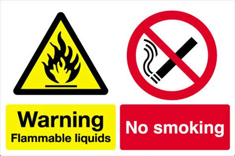 Warning 9 11 Ukuran 3 X 300m warning flammable liquids no sign signs 2 safety