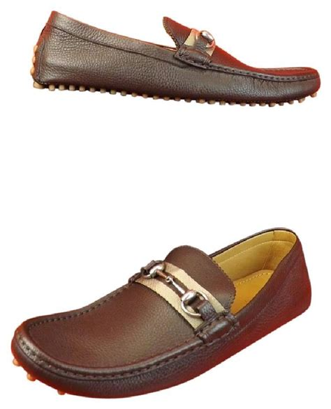 gucci pebbled leather horsebit loafer gucci mens brown pebbled leather horsebit driving loafers