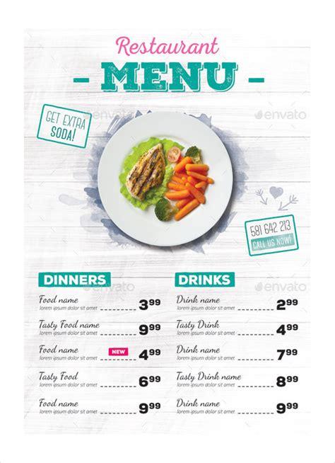 5 weekly dinner menu template procedure template sample