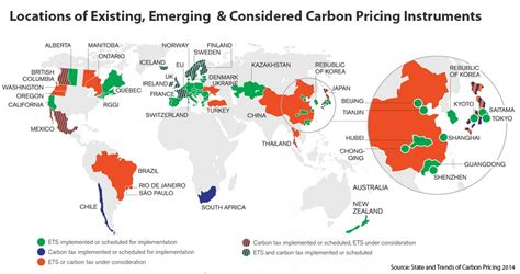map pricing carbon pricing gains popularity with governments businesses world resources institute