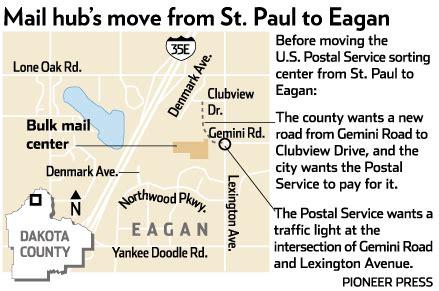 postal service s dispute with eagan dakota county