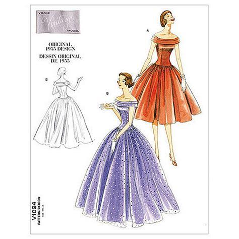 vintage gown pattern vogue vintage evening gown sewing pattern 1094 at john lewis