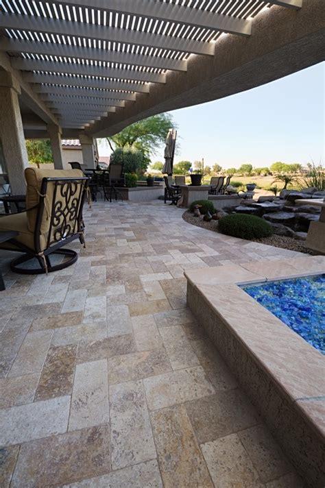 travertine pavers patios more az landscape creations