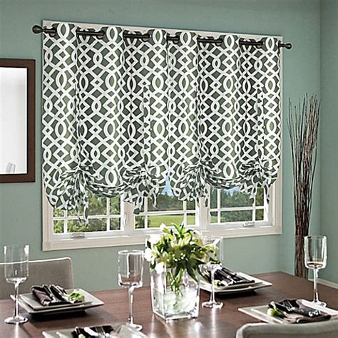 Tie Up Window Curtains Trellis 63 Inch Grommet Top Tie Up Window Curtain Panel Bed Bath Beyond