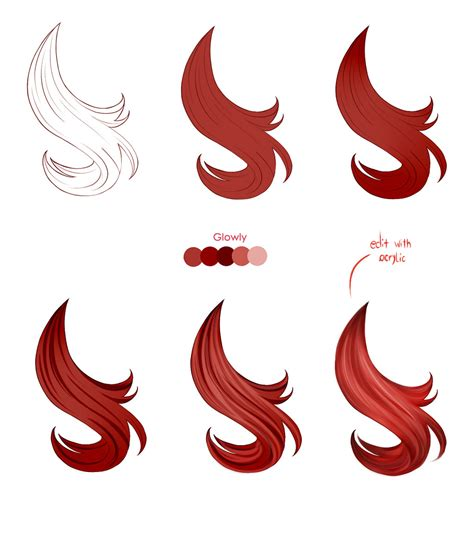 paint tool sai drawing hair hair tutorial paint tool sai by pittsdolls on deviantart