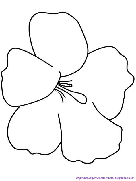 Gambar Dan Sepatu Brodo gambar mewarnai bunga sepatu untuk anak paud dan tk