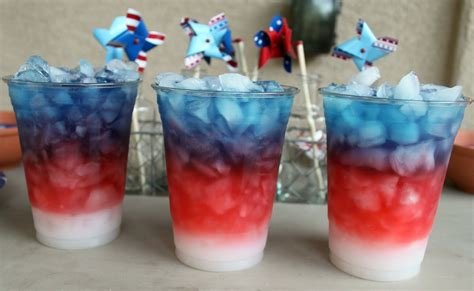 little inspirations red white and blue drinks