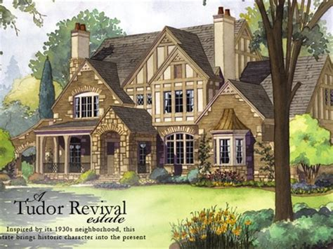 tudor revival floor plans tudor style house with brick and style