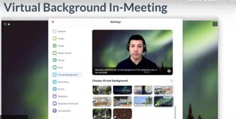 mengubah background  aplikasi zoom bacolahcom