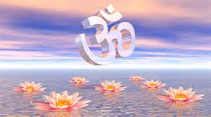Lotus And Om Mantra