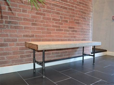 pipe bench black pipe bench pipe furniture pinterest