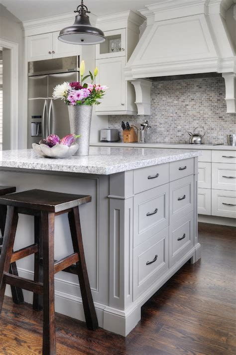 Charleston Kitchen Cabinets by Grey Kitchen Island Transitional Kitchen Farrow And
