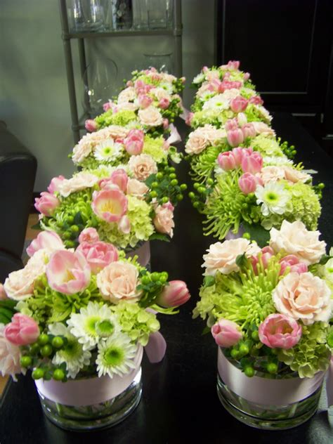 flower centerpieces jeff french floral event design 1st communion party