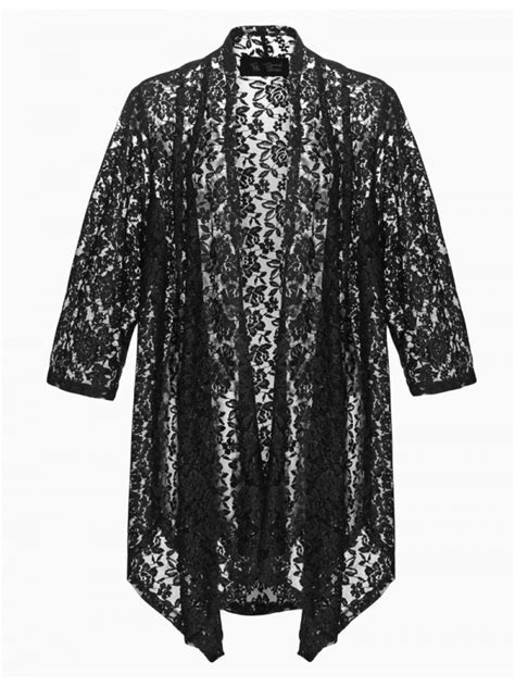 Robin Plus Size Lace Jacket in Black