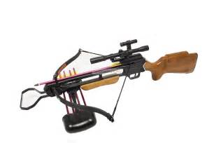 Hunting crossbow string pre installed with scope laser broadheads
