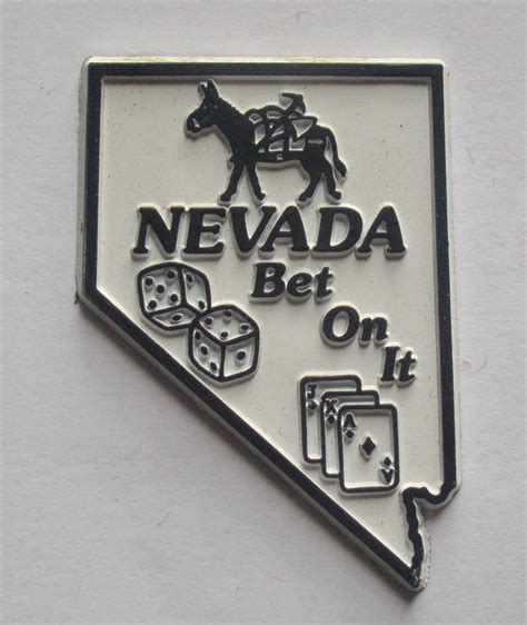 nevada rubber st fridge magnet molded rubber nevada state shape bet on it