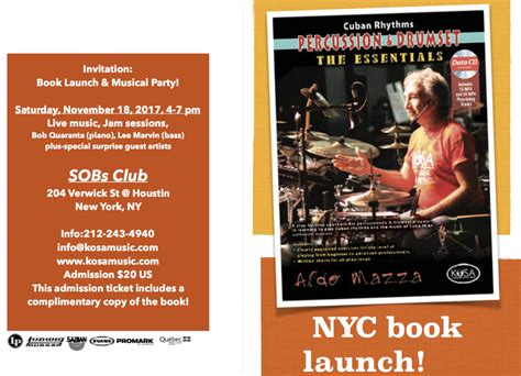 house music events nyc nyc book launch and musical party kosa music