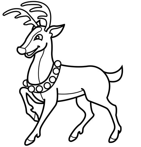 coloring pages of christmas reindeer christmas reindeer coloring pages az coloring pages