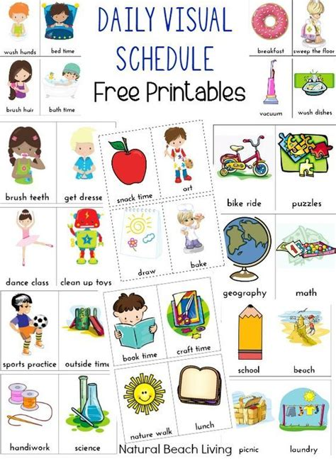 Printable Visual Schedule Pictures | visual schedules special needs children and special needs