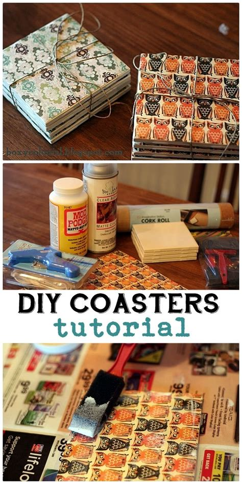 How To Make Handmade Coasters - 25 inexpensive diy birthday gift ideas for
