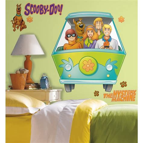 scooby doo mystery wall stickers by roommates