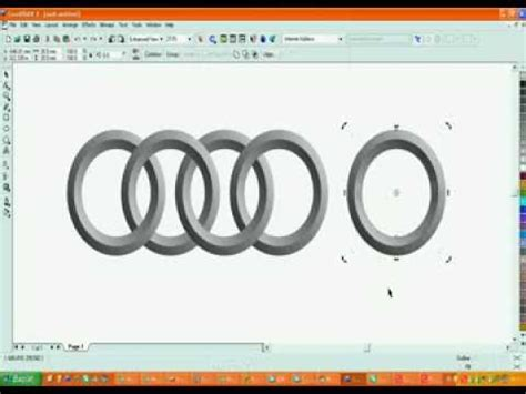 corel draw x5 logo corel draw x5 audi logo vektorel cizim turkiye youtube