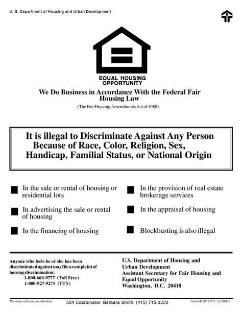 fair housing act section 504 fair housing poster 928 1 by sfha issuu