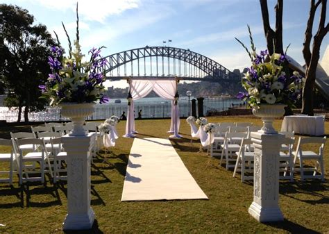 garden wedding ceremony and reception sydney royal botanic gardens bennelong lawn garden locations