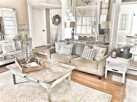 99 cute shabby chic farmhouse living room design ideas