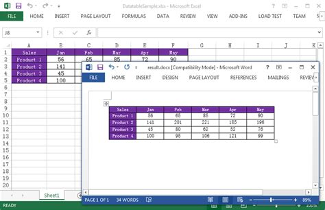 format html table for excel how to export excel data to word table maintaining