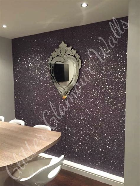 glitter wallpaper feature wall gunmetal feature wall in kitchen dining area blog