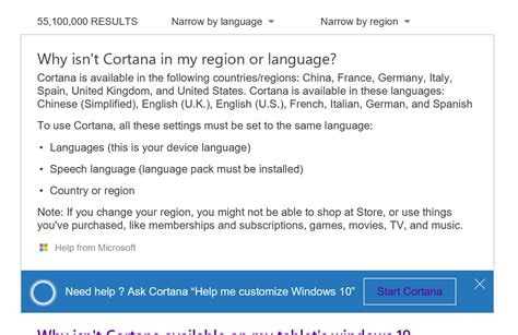 why isnt cortana available on my windows 10 pc microsoft account why cortana isnt working for australians in windows 10 why