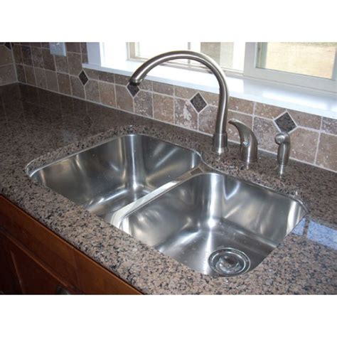 stainless steel undermount  double bowl kitchen sink  gauge