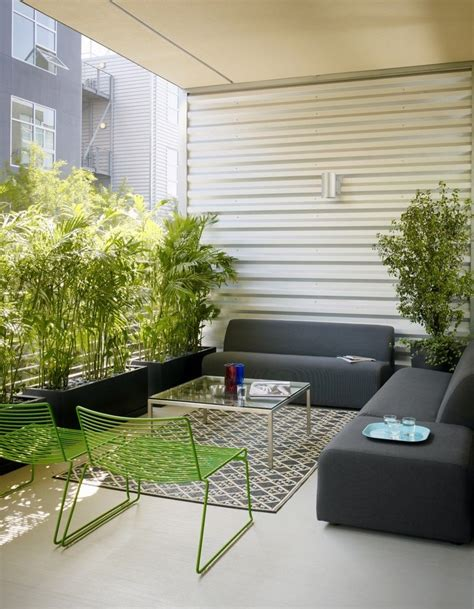 Outdoor Wohnzimmer by Rectangular Wall Planters Deck Contemporary With Woven