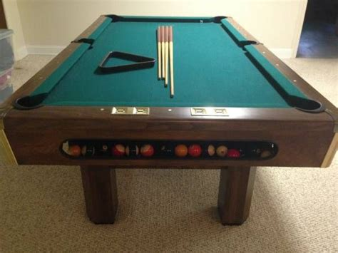 a33 brunswick billiards buckingham pool table sold used