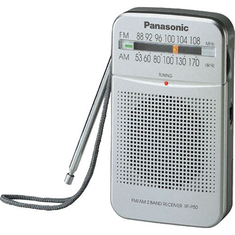 Panasonic Radio Rf P 50 Silver Bisa Gojek panasonic rf p50 am fm pocket radio rf p50 b h photo