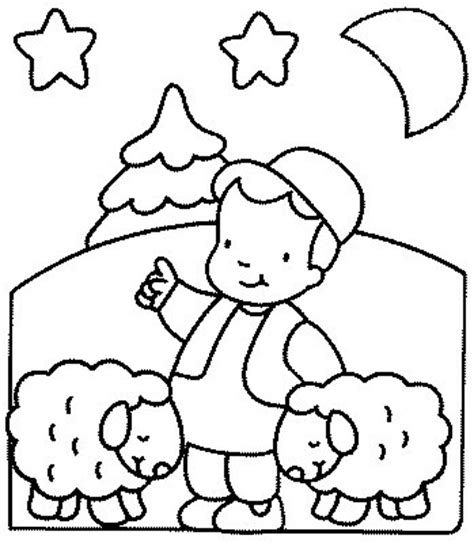 quot little boy blue with his sheep quot kids coloring pages