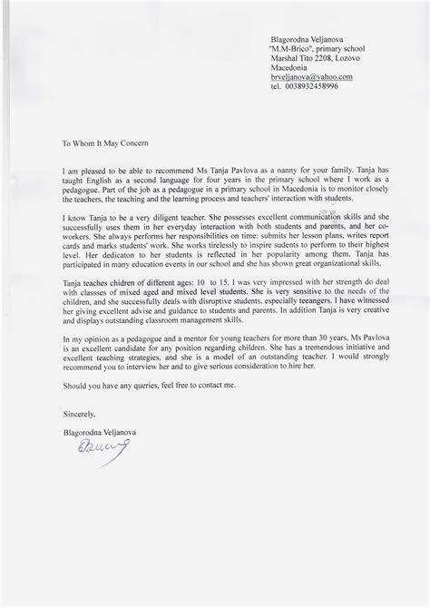 professional nanny cover letter sample writing guide coverletternow