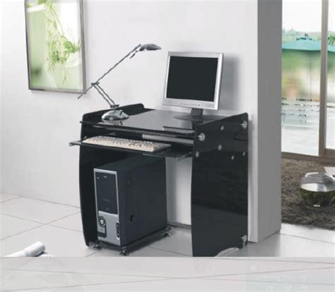 Large Black Computer Desk Large Computer Desk In Black Glass 24722 Furniture In
