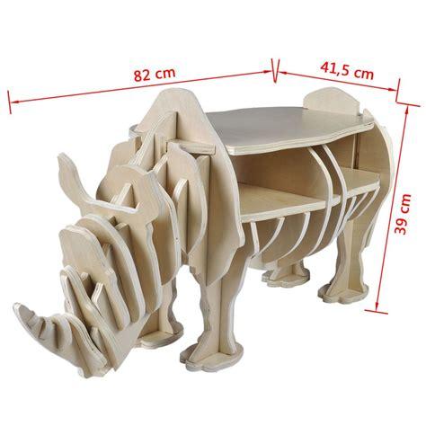 tavolo mensola tavolo rinoceronte in legno per la casa mensola per libri