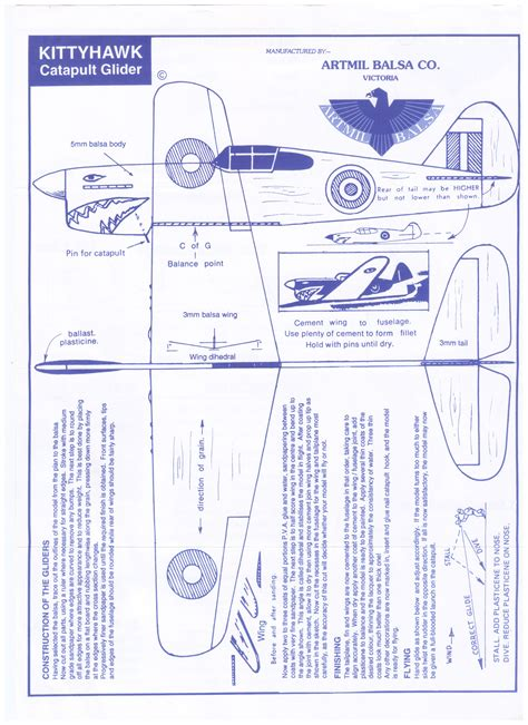 balsa plane instructions  print