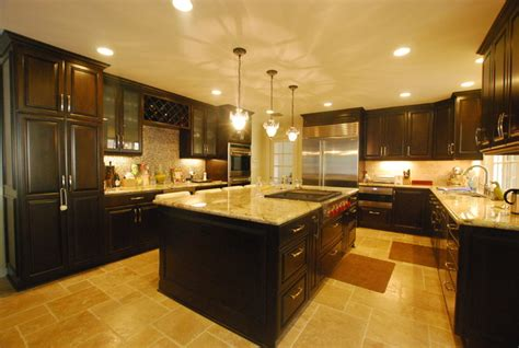 luxury kitchen remodel kitchen island and wine bar
