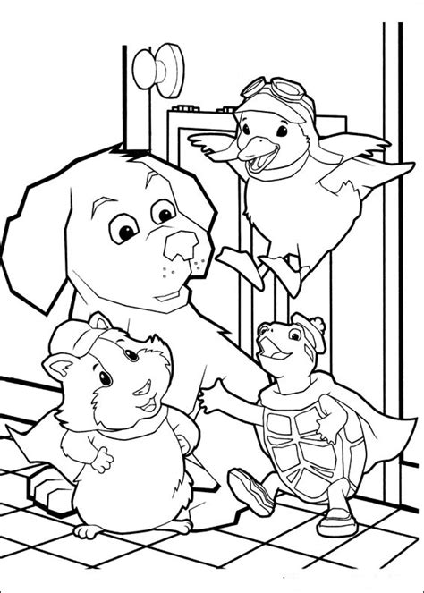 coloring pages pets fun coloring pages wonder pets coloring pages
