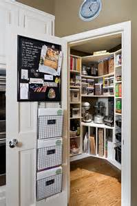 pantry with built in tray dividers transitional