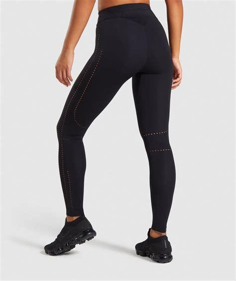 gymshark laser cut tights black  releases gymshark